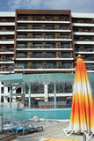 Ultra allen inclusief bij vijfsterrenhotel Royalty-vrije Stock Foto's