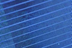 Ultra błękitnej stali zmielona kratownica Stali nierdzewnej tekstura, tło dla strony internetowej lub urządzenia przenośne, Obraz Royalty Free