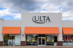 Ultra Beauty retail store. GILROY, CA/USA - APRIL 26, 2014:  Ultra Beauty retail store. ULTA Salon, Cosmetics & Fragrance is a chain of beauty superstores in the Stock Image