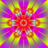 Ultra bright mandala. Abstract fractal illustration created with the fractal explorer Stock Images