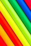 Ultra-bright multi colored pencils Royalty Free Stock Images
