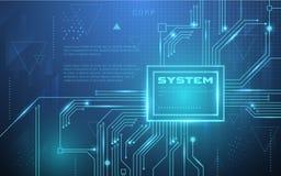 Ultra carta da parati di tecnologia di Sci Fi dell'estratto di HD adatta ad applicazione, a desktop, a fondo dell'insegna, a cont illustrazione di stock