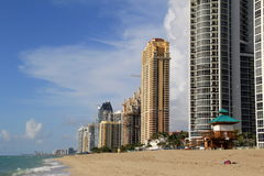 Ultra chic condominiums along the beach Stock Photo