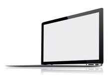Ultra Cienki laptop na bielu Zdjęcia Stock