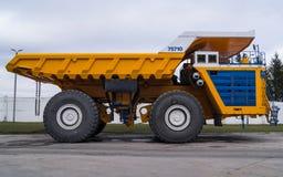 Ultra-Class Haul Truck Copy Space Stock Photo