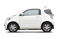 Ultra compact city car. Side view of ultra compact city car isolated on white Stock Photo