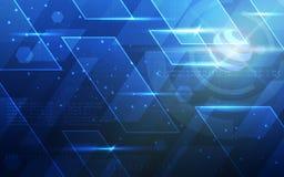 Ultra de Technologiebehang van FI van Sc.i van HD Abstract Geschikt voor Toepassing, Desktop, Bannerachtergrond, Drukachtergrond  Stock Fotografie