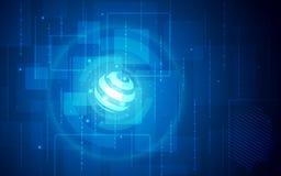 Ultra de Technologiebehang van FI van Sc.i van HD Abstract Geschikt voor Toepassing, Desktop, Bannerachtergrond, Drukachtergrond  Stock Afbeeldingen