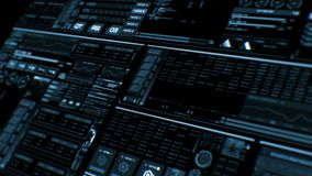 Futuristic interface | HUD | Digital screen. Ultra detailed abstract digital background. Blinking and switching indicators and statuses showing work of command stock video