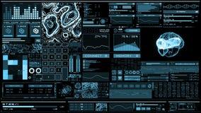 Light blue futuristic interface/Digital screen/HUD