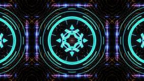 Ultra disco colorée de fond de mouvement de boîte de fond de boîte de kaléidoscope de festival de musique d'étape de mur visuel h clips vidéos