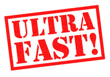 ULTRA FAST!. Red Rubber Stamp over a white background Stock Photography