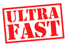 ULTRA FAST. Red Rubber Stamp over a white background Royalty Free Stock Photography