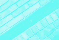 Ultra fundo da cor de turquesa do aqua com teste padrão delicado do tijolo Copie o espa?o foto de stock royalty free