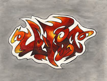 Ultra graffiti. The word Ultra in street graffiti style over gray background Stock Photography