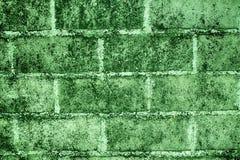 Ultra green Grunge technique Brick texture of old vintage building, design concept.  royalty free illustration
