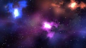 Ultra hd des abstrakten kreativer Galaxiehintergrund Nebelfleckraumes lizenzfreie abbildung