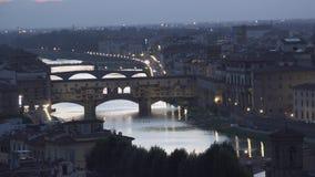 ULTRA HD 4K, Amazing Sunset view of Florence, Italy, Europe. ULTRA HD 4K, View of Amazing Sunset view of Florence, Italy, Europe stock video