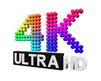 Ultra HD 4K icon Royalty Free Stock Photo