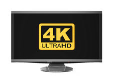 Ultra HD 4K icon Stock Photography