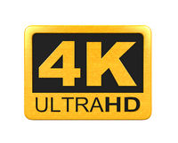 Ultra HD 4K icon stock illustration