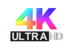 Ultra HD 4K icon Royalty Free Stock Images
