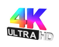 Ultra HD 4K icon Stock Image