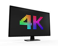 Ultra HD 4K icon. On white background. 3D render Royalty Free Stock Photography