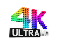 Ultra HD 4K icon Royalty Free Stock Photos