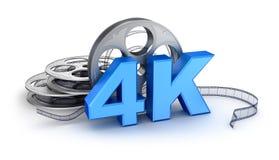 Ultra HD 4K ikona Obraz Stock