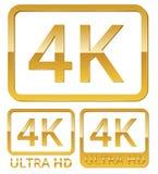 Ultra HD 4K ikona Zdjęcia Stock