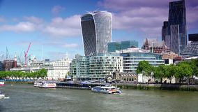 ULTRA HD 4k, real time, City of London Financial District. stock video footage