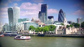 ULTRA HD 4k, real time, City of London Financial District. stock video