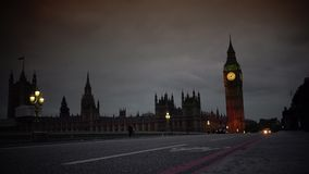 ULTRA HD 4k, real time, the Parliament and Big Ben from Westminster bridge stock video footage