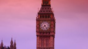 ULTRA HD 4k, real time, the Parliament and Big Ben from Westminster bridge stock footage