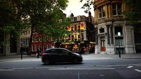 ULTRA HD 4k, real time, people have a drink at Sherlock Holmes pub in London. LONDON - circa 2015: people have a drink at Sherlock Holmes pub in London ULTRA HD stock video footage
