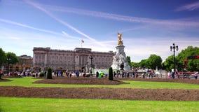 ULTRA HD 4k, real time, People walking near the Buckingham Palace, in London. LONDON, UNITED KINGDOM - circa 2015: People walking near the Buckingham Palace stock footage