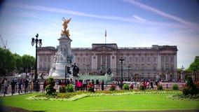 ULTRA HD 4k, real time, People walking near the Buckingham Palace, in London. LONDON, UNITED KINGDOM - circa 2015: People walking near the Buckingham Palace stock video