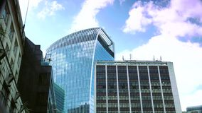 ULTRA HD 4k, real time, Traffic and pedestrians on City, modern building in London, stock video