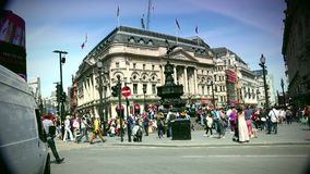 ULTRA HD 4k, real time, Traffic and pedestrians on Piccadilly Circus in a sunny day stock video footage