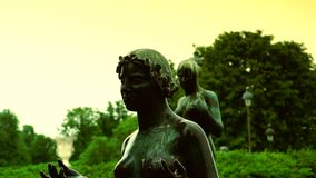 ULTRA HD 4K, real time, zoom; Statues from Jardin des Tuileries, in Paris. stock video