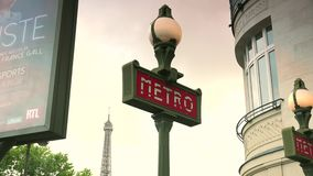 ULTRA HD 4K, real time, zooming;sculpture, a replica of the one topping the Statue of Liberty Paris stock footage