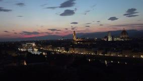 ULTRA HD 4K, Zadziwiający zmierzchu widok Florencja, Włochy, Europa zdjęcie wideo