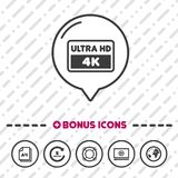 Ultra HD-Schirmikone Symbol 4k lizenzfreie abbildung