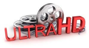 Ultra HD-symbol Arkivbilder