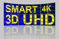 Ultra High Definition smart TV concept Stock Image