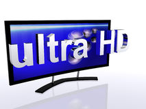 Ultra High Definition. Television in a new high quality Stock Photos