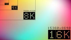 Ultra hoge de vergelijkingsspot van de hdresolutie 16k omhoog stock illustratie