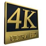 Ultra icona di HD 4K Fotografia Stock