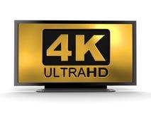 Ultra icono de HD 4K Imagen de archivo libre de regalías